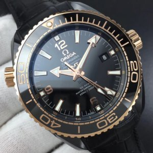 OMEGA Seamaster Planet Ocean 45.5mm Deep Gold Black Real Ceramic VSF 11