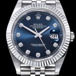 ROLEX Datejust 41mm 126334 904L SS Blue Dial on SS Jubilee Bracelet ARF A2824